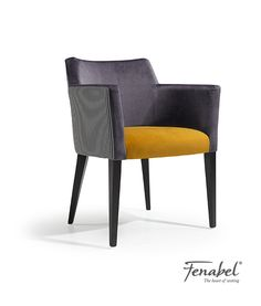 Upholstered easy chair with armrests JASY MAPLE by Fenabel - The heart of seating Dinning Table Design, Modern Dining Chairs, Dining Table Chairs, Furniture Upholstery, Table Furniture, Furniture Design, Chair Design Wooden, Single Chair, Heart