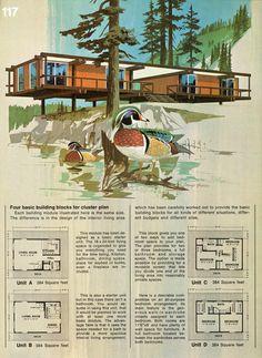 Vintage cabin design illustration