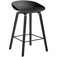 HAY Oak Stool - Black - Low (€230) ❤ liked on Polyvore featuring home, furniture, stools, black, coloured stools, colored bar stools, low stool, black barstools and black counter height bar stools