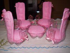 Pet Bottle Diy Artesanato 53 Ideas For 2019 Reuse Plastic Bottles, Plastic Bottle Crafts, Recycled Bottles, Recycled Crafts, Diy And Crafts, Crafts For Kids, Barbie Clothes, Barbie Dolls, Diy Barbie Furniture