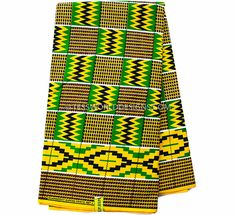 Original Ghana Fabric / Ghana Kente fabric / Made in Ghana / Adinkra fabric/ Kente fabric / African Fabric / Ghanaian / by the Yard /  KF245