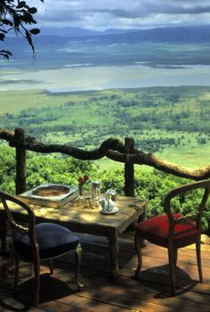 Tea at Ngorongoro Crater Lodge.