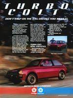 Dodge Turbo Colt 1984 Ad Picture