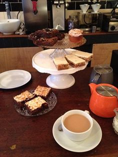 Creativity helped along by tea and cake at Tamper Coffee.