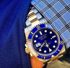 Rolex Submariner in two toned Blue SS and YG