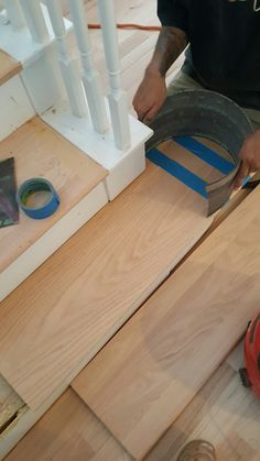 Wood Flooring Refinishing In The Houston Area . See More. Making The  Rounded Step