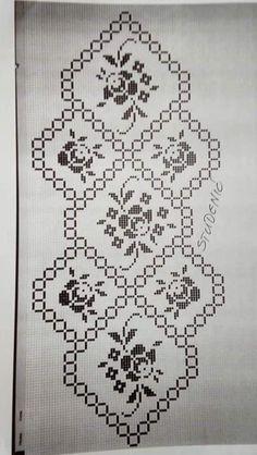 Crochet And Knitting - Diy Crafts - Poti - Diy Crafts Crochet Tablecloth Pattern, Crochet Motif, Crochet Doilies, Crochet Patterns, Crochet Boys, Cross Stitch Borders, Cross Stitch Designs, Cross Stitch Patterns, Double Crochet Decrease