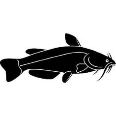 catfish silhouette decal