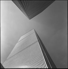 Twin Towers New York. My first twinlens camera was a Meopta Flexaret for 25 Dollars. The film is a Kodak tech pan.
