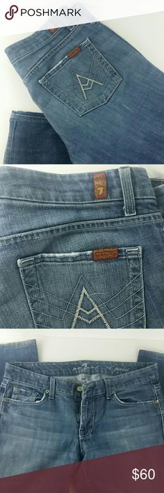 7 For All Mankind Jeans SALE 7 For All Mankind Jeans GUC, Size 30 has a bit of a flare to the leg 7 For All Mankind Jeans Flare & Wide Leg