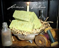 Love the herb, lemon verbena!  Need to get the recipe to make this soap!