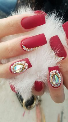 Manicures, Nails, Milena, Beauty, Stones, Beleza, Ongles, Finger Nails, Manicure