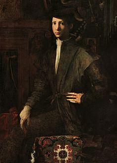 Rosso Fiorentino (1494-1540) – Portrait de jeune homme (1527) Naples, Museo di Capodimonte.