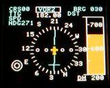 Kompass der EC135 bzw. EC145. Diese Software wird in Zukunft mit einem echten GPS verbunden werden können. Dann stellt die Software reale Daten dar.