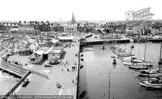 Lowestoft, The Harbour From The South Pier c.1960