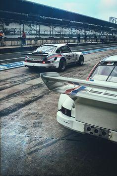 Classic racing Porsche