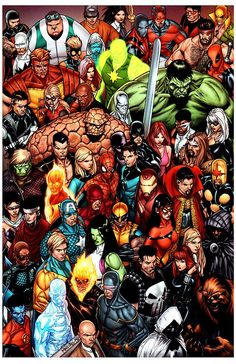 Everyone's Assembled - Steve McNiven -- haha! I just wore a shirt with this to a comic con. :)