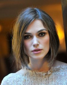 The Best Short Haircuts by Face Shape: Keira Knightley's Bob: Great for a Square Face