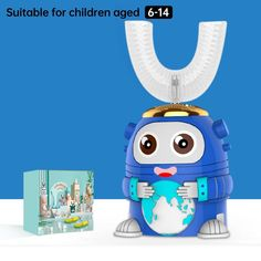 Smart 360 Degress U Sonic Kids Electric Silicone Automatic Ultrasonic – dailyfashionlove Acoustic Wave, Sonic Electric Toothbrush, Ultrasonic Toothbrush, Magnetic Levitation, Brush Type, Cartoon Styles, Children, 3 Kids, Fun