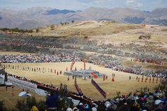 Sacsayhuamán, Cuzco, Peru. Inti Raymi (Festival of the Sun) on Winter Solstice.