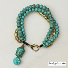 Namaste Bracelet made with Bead Gallery beads available at @michaelsstores