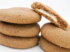 White Chocolate-Filled Biscoff Cookies