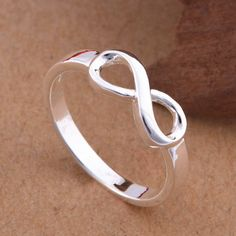 High Quality 925 Sterling Silver Infinity Ring Fashion Best Sister Love Forever Infinity Symbol Rings Size 7 8 Stamp S925 - V-Shop