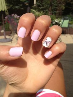 cute light pink nails