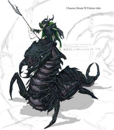 Falmer riding a massive Chaurus. And now..... we have to run.