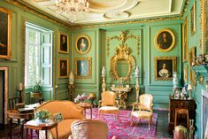The Grenville-room of Prideaux Place. North Cornwall, UK