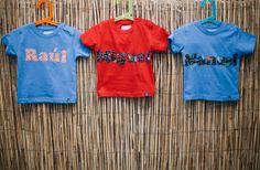 #camisetas para tres #niños super molones #kids #handmade #moda #tshirts