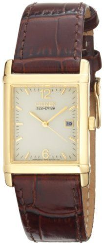 Citizen Men's BW0072-07P Eco-Drive Gold-Tone Leather Watch Citizen. $90.00. Water-resistant to 99 feet (30 M). Light powered eco-drive Japanese-quartz movement; charges in natural sunlight or indoor light. Gold-tone-stainless-steel case; champagne dial; date function. Durable, hardened mineral crystal. Case diameter: 26 mm. Save 40% Off!