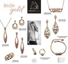 CRYSTALP Rose Gold Precious Metals, Swarovski, Fashion Jewelry, Rose Gold, Pendant Necklace, Jewellery, Crystals, Handmade, Jewels