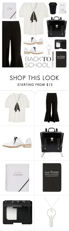"""""""Go Back-to-School Shopping!"""" by deepwinter ❤ liked on Polyvore featuring Miu Miu, Peter Pilotto, Freda Salvador, 3.1 Phillip Lim, Moleskine, Elemis, NARS Cosmetics, Art School, too cool for school and BackToSchool"""