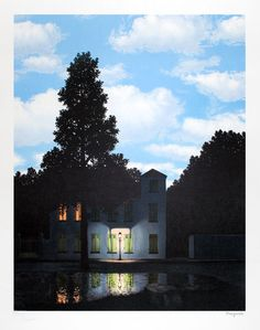 Rene Magritte, L'empire des lumières (The Dominion of Lights), 1954. Used to have a print of this in an old office.