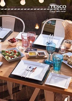 Summer is all about those warm al fresco evenings spent surrounded by family and friends. From sleek slate place mats to white Marseille dining chairs and colourful glassware, our stylish, affordable accessories are bound to impress.