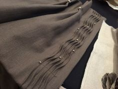 Zona Tiller's beautiful drapery detail featured on Leatherwood Design Co: Back from the CWC, back to work!