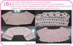 Saquito o Camperita a crochet para niña                                                                                                                                                     Más