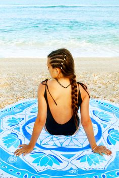 This amazing round terry cotton beach towel is available in our shop