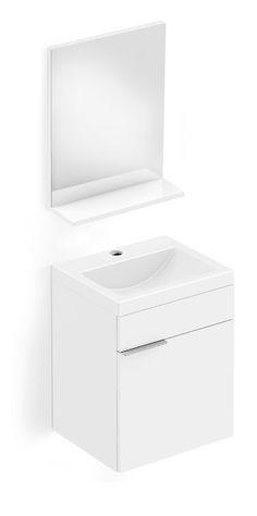 Blog da Revestir.com: Banheiro novo já! Kit Like você elimina quatro etapas da obra em um único produto: o conjunto vem com gabinete, bancada, lavatório e espelho com prateleira. Da Celite