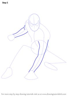 Learn How to Draw Spiderman (Spiderman) Step by Step : Drawing Tutorials Basic Drawing, Learn Drawing, Step By Step Drawing, Learn To Draw, Figure Drawing, Spiderman Sketches, Spiderman Drawing, Marvel Drawings, Spiderman Spiderman