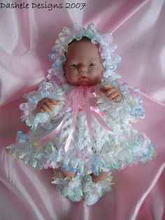 Knitting pattern for 10 inch dolls Emmy by dasheledesigns on Etsy