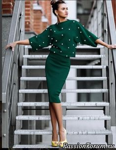 47 ideas for skirt outfits elegant Mode Outfits, Skirt Outfits, Modest Fashion, Fashion Dresses, Mode Vintage, Work Attire, Womens Fashion, Fashion Trends, Fashion Design
