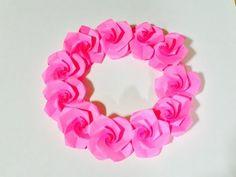 折り紙 バラのリース Origami Wreath - YouTube