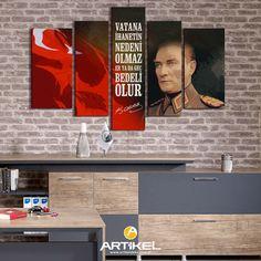 """""""Atatürk-29"""" Kanvas Tablo modelimiz 5 Parça 135x85 cm ölçüsü ile stoklarımızda.. #yeniürün #kanvastablo #art #tasarım"""