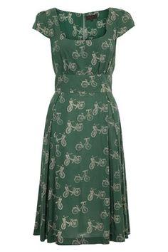 1950s style - Velo Bike Print Dress - Great Plains