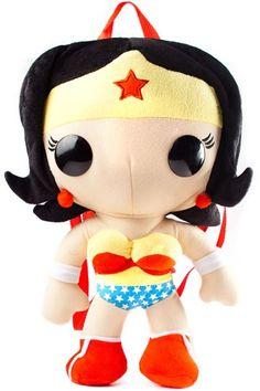 Funko Pop! Wonder Woman Backpack. Available from Nerd Vault store and online - www.nerd-vault.com.