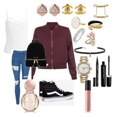 """Untitled #174"" by sdesir on Polyvore featuring New Look, Sans Souci, Topshop, Vans, FOSSIL, Chanel, Chloé, Karl Lagerfeld, Michael Kors and Accessorize"