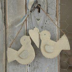Rustic Hanging Love Birds