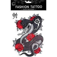 Grashine fashionable and hot selling 12 Chinese Zodiac Signs Snake fake tattoos ** Click on the image for additional details. (This is an affiliate link) #TemporaryTattoos